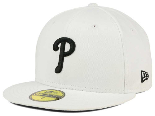 Philadelphia Phillies New Era MLB White And Black 59FIFTY Cap Hats