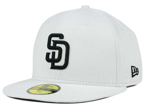 San Diego Padres New Era MLB White And Black 59FIFTY Cap Hats