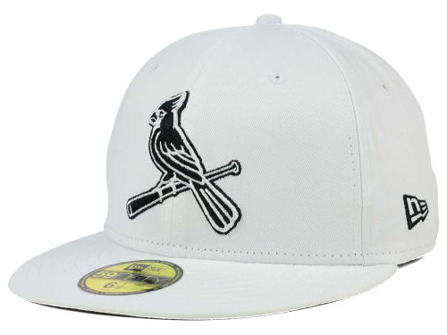 St. Louis Cardinals New Era MLB White And Black 59FIFTY Cap Hats