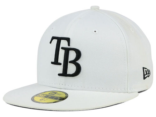 Tampa Bay Rays New Era MLB White And Black 59FIFTY Cap Hats