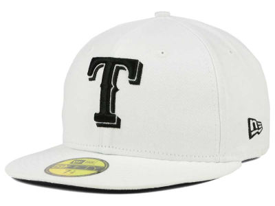 Texas Rangers MLB White And Black 59FIFTY Cap Hats