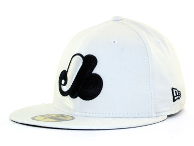 Montreal Expos MLB White And Black 59FIFTY Cap Hats