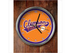 Clemson Tigers Chrome Clock Bed & Bath