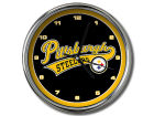 Pittsburgh Steelers Chrome Clock Bed & Bath