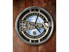 Pittsburgh Penguins Chrome Clock Bed & Bath