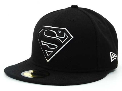 DC Comics Superman Comic Black and White 59FIFTY Hats