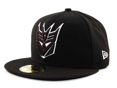 Transformers Decepticon Comic Black and White 59FIFTY Hats