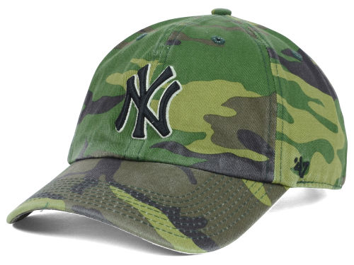 New York Yankees MLB Camo '47 CLEAN UP Cap Hats