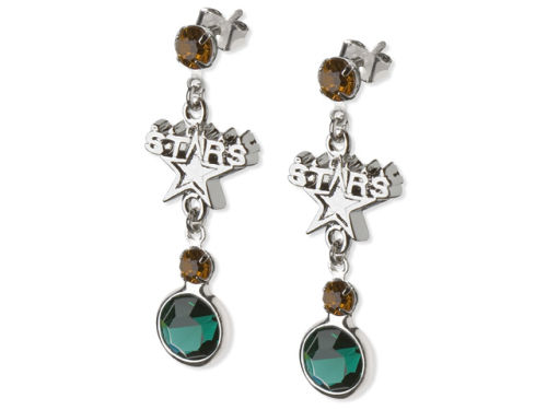 Dallas Stars Crystal Logo Earrings