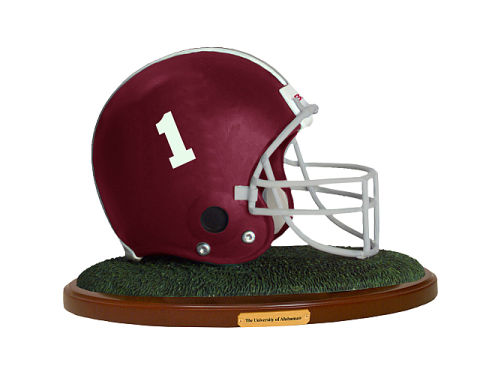 Alabama Crimson Tide Replica Helmet with Wood Base