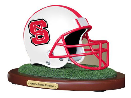 North Carolina State Wolfpack Replica Helmet with Wood Base