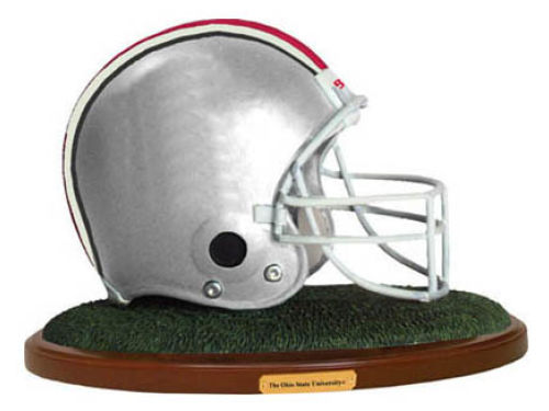 Ohio State Buckeyes Replica Helmet with Wood Base