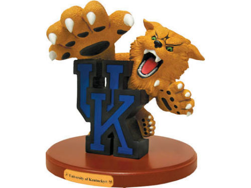 Kentucky Wildcats 3D Logo with Wood Base