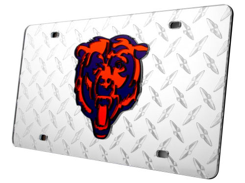 Chicago Bears Rico Industries Diamond Acrylic Laser Tag