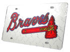 Atlanta Braves Rico Industries Diamond Acrylic Laser Tag Auto Accessories