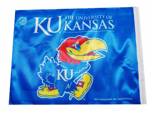 Kansas Jayhawks Rico Industries Car Flag Rico