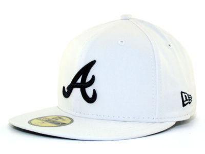 Atlanta Braves MLB White And Black 59FIFTY Cap Hats
