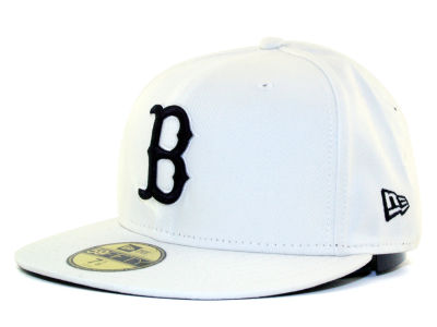 Boston Red Sox MLB White And Black 59FIFTY Cap Hats