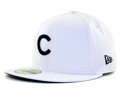Chicago Cubs MLB White And Black 59FIFTY Cap Hats