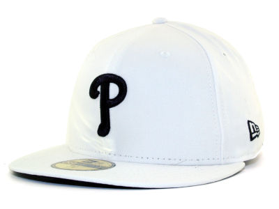 Philadelphia Phillies MLB White And Black 59FIFTY Hats