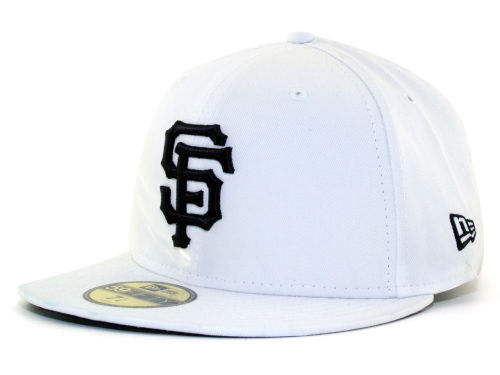 San Francisco Giants New Era MLB White And Black 59FIFTY Cap Hats