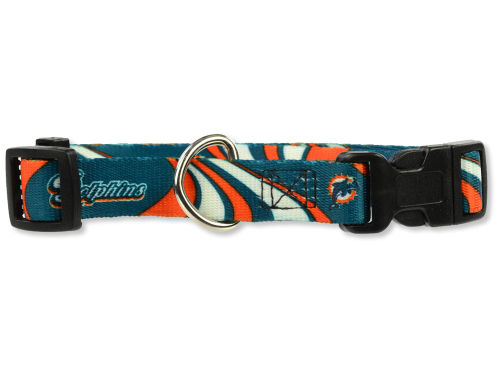 Miami Dolphins Large Dog Collar