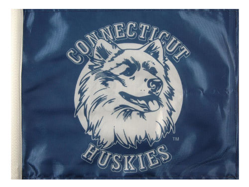 Connecticut Huskies Rico Industries Car Flag