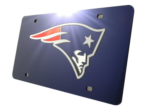 New England Patriots Rico Industries Acrylic Laser Tag