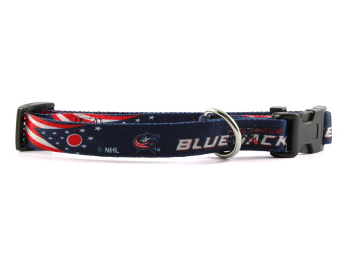 Columbus Blue Jackets Medium Dog Collar
