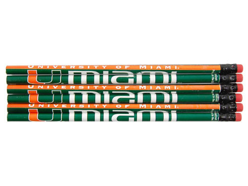 Miami Hurricanes Wincraft 6 Pack Pencils