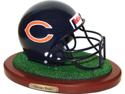 Chicago Bears Replica Helmet with Wood Base