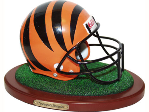 Cincinnati Bengals Replica Helmet with Wood Base