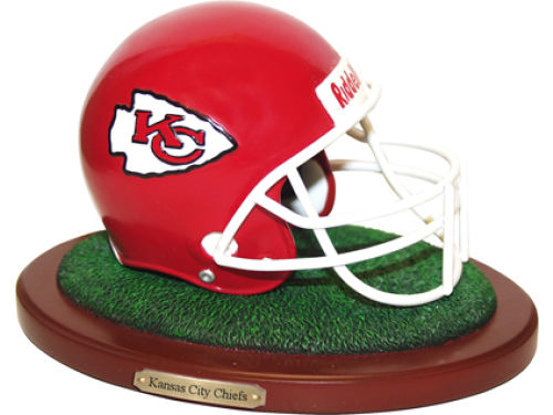 Kansas City Chiefs Replica Helmet with Wood Base