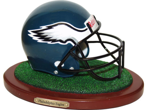Philadelphia Eagles Replica Helmet with Wood Base