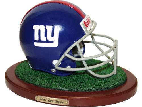 New York Giants Replica Helmet with Wood Base
