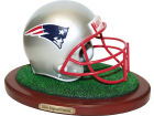 New England Patriots Replica Helmet with Wood Base Collectibles