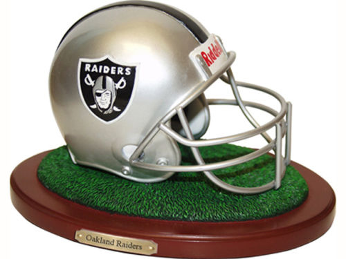 Oakland Raiders Replica Helmet with Wood Base