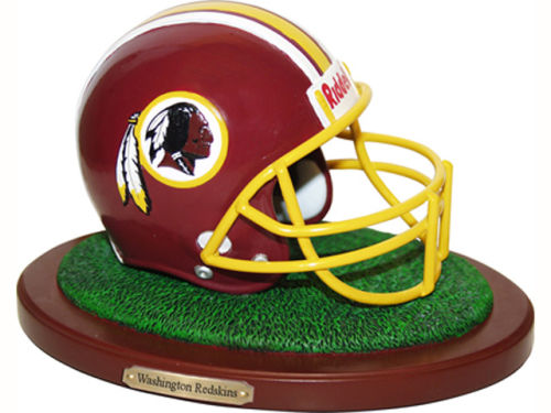 Washington Redskins Replica Helmet with Wood Base
