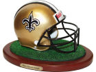 New Orleans Saints Replica Helmet with Wood Base Collectibles