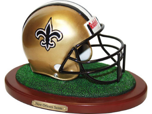 New Orleans Saints Replica Helmet with Wood Base