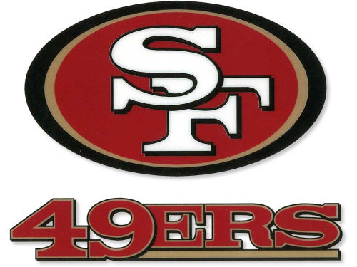 San Francisco 49ers Rico Industries Static Cling Decal