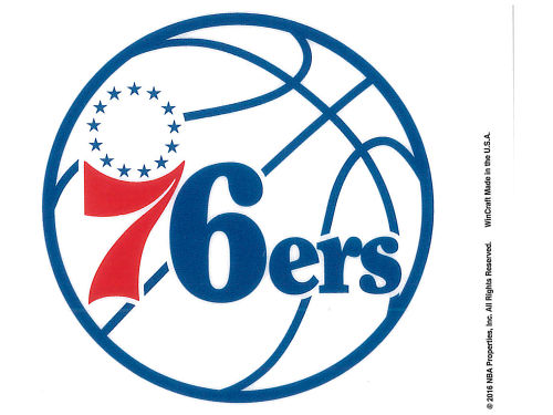 Philadelphia 76ers Rico Industries Static Cling Decal