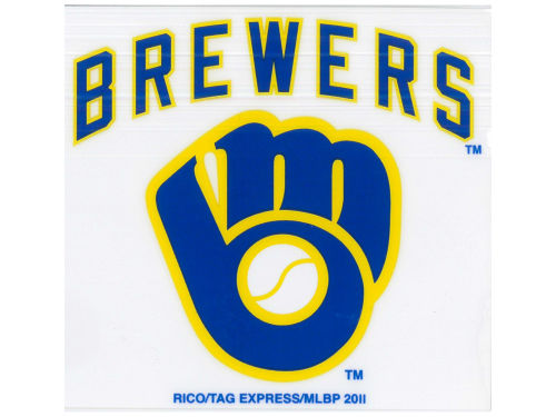 Milwaukee Brewers Rico Industries Static Cling Decal