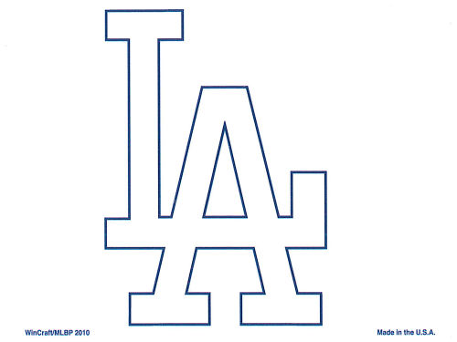 Los Angeles Dodgers Rico Industries Static Cling Decal