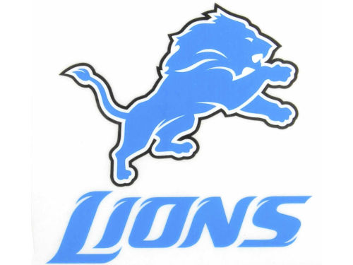 Detroit Lions Rico Industries Static Cling Decal