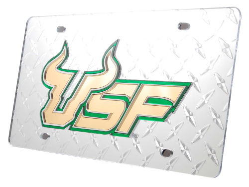 South Florida Bulls Diamond Acrylic Laser Tag