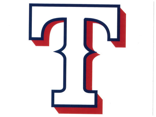 Texas Rangers Rico Industries Static Cling Decal
