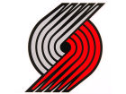 Portland Trail Blazers Rico Industries Static Cling Decal Auto Accessories