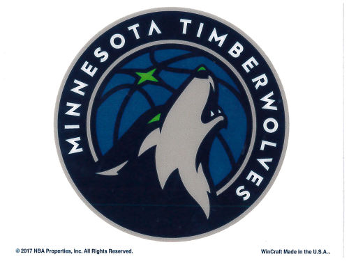 Minnesota Timberwolves Rico Industries Static Cling Decal