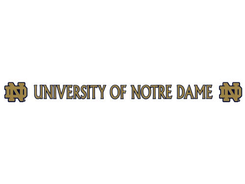 Notre Dame Fighting Irish Long Decal